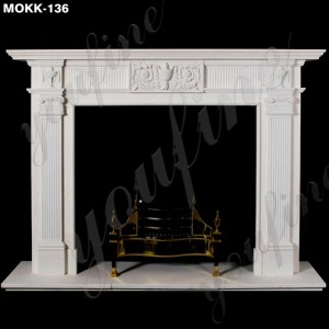 Factory Supply Modern Marble Fireplace Mantel Home Decor for Sale MOKK-136