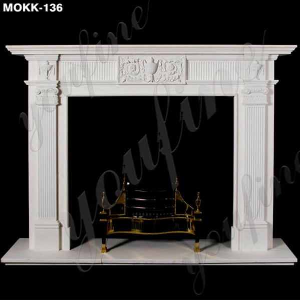 Factory Supply Modern Marble Fireplace Mantel Home Decor for Sale MOKK-136 Featured Image