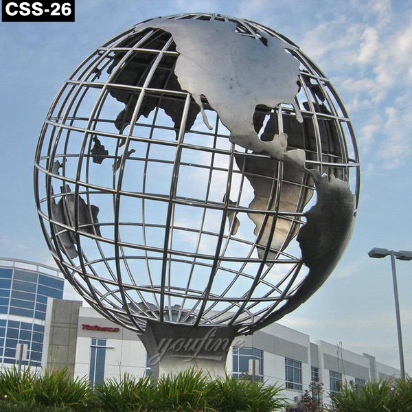 Outdoor Fantastic Large Stainless Steel Globe Sculpture CSS-26 Featured Image