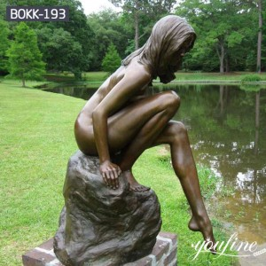 Superior Quality Bronze Girl Statue Water Feature Decor for Sale BOKK-193