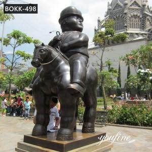 Large Fernando Botero Statue Man on Horse for Sale BOKK-498