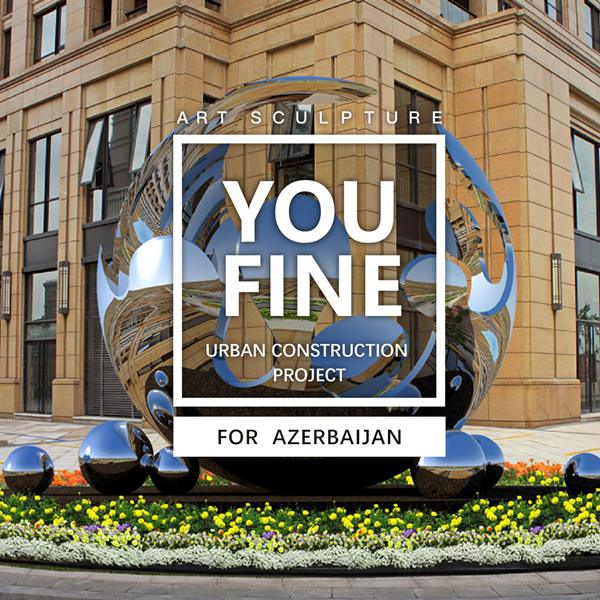 Large Outdoor Metal Sculpture for Azerbaijan Urban Construction Government Project