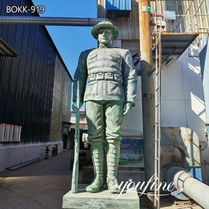 Large Customized Bronze Military Statue Outdoor sculpture for sale BOKK-919