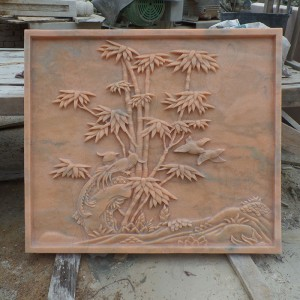 Natural Hand Carved Stone Wall Relief marble relief sculpture