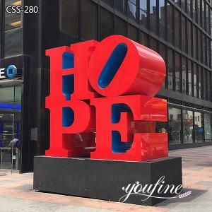 Public Art Robert Indiana HOPE Sculpture Price CSS-280