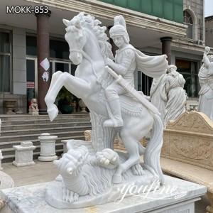 Marble Statue Saint George Slaying the Dragon for Sale MOKK-853