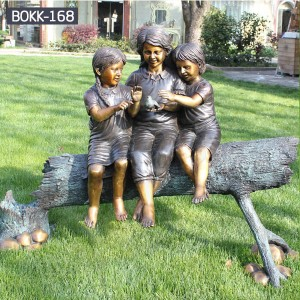 Custom Made Statues Custom Life Size Statues  Children Lawn Sculpture BOKK-168