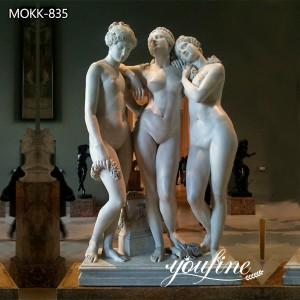 Classic Artwork Marble the Three Graces Statue for Sale MOKK-835