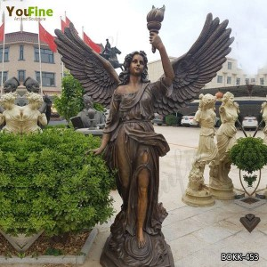 Beautiful Large Bronze Angel Statue with Torch Design for Sale BOKK-453