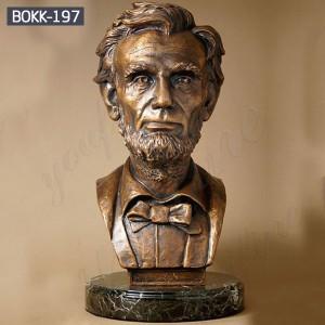 Bronze Bust Statue of President Abraham Lincoln Head Bust Sculpture for Home Decor BOKK-197