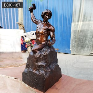 Outdoor Bronze Famous Bobbie Carlyle's Self Made Man Statue Replica for Sale BOKK-87