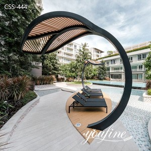 Modern Metal Leaf Sculpture for Garden Decor for Sale CSS-444