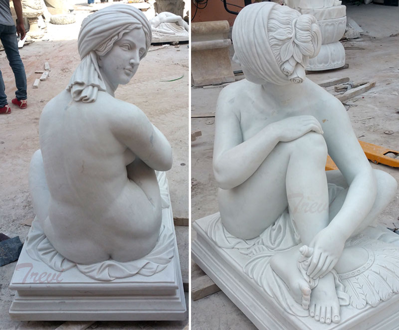 Life size marble art figure James Pradier's Odalisque replicas for sale