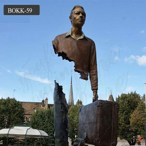Life size famous abstract bronze bruno catalano for sale BOKK-59
