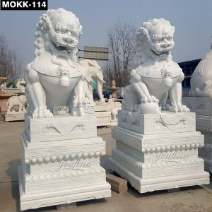 Lucky Decoration Chinese Lion Statue MOKK-114