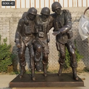 "Outdoor Statue of ""No One Left Behind"" Replica Military Memorial Statues BOKK-42"