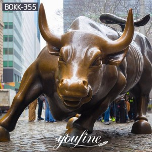 Large size outdoor sculpture Bronze wall street bull statue replica for sale BOKK-355