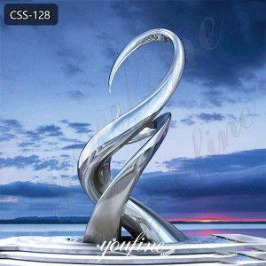 Modern Mirror Polished Stainless Steel Landscape Sculpture for Sale CSS-128