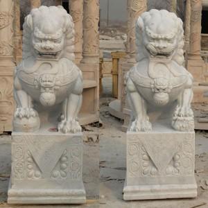 Marble Lion Statue Lion Statues for Front Portch Lion Statue for Home MOKK-121