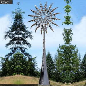 Famous outdoor decor large kinetic wind sculptures for sale CSS-01