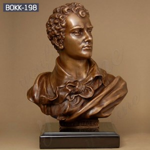 Bust Statue Bronze Bust of Famous Poet Lord Byron BOKK-198