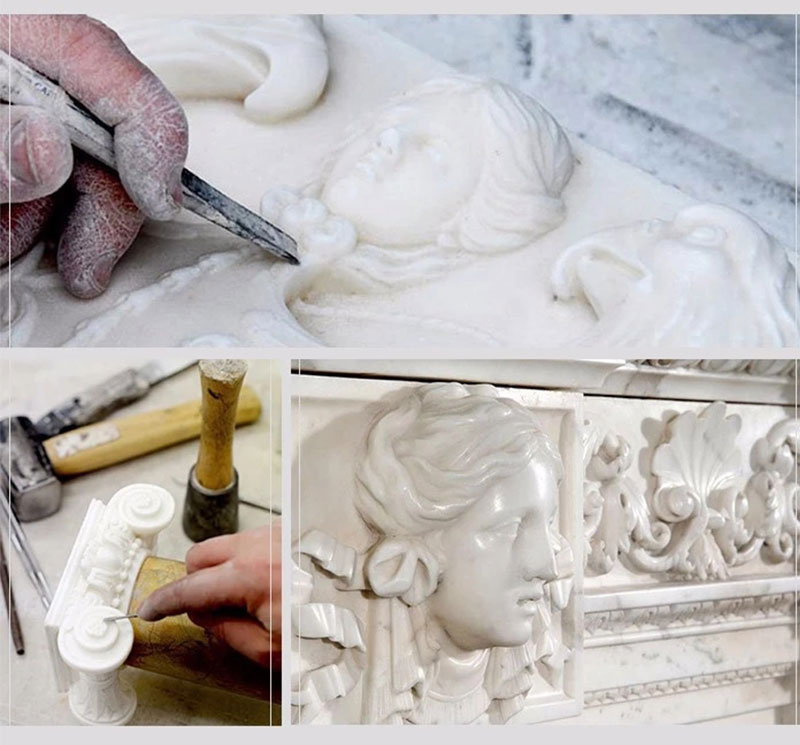 marble statue carving processing