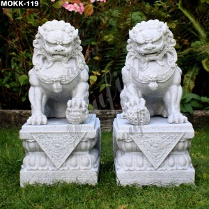 Classic Chinese Lion Garden Statue MOKK-119