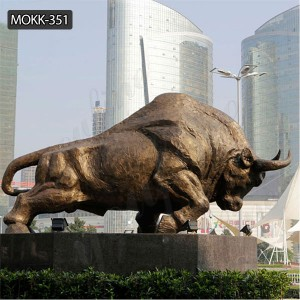Garden animal sculpture Bronze life size bull statue for sale BOKK-351
