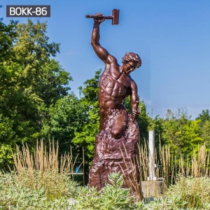 Famous bronze statue of man carving himself out of stone for sale BOKK-86