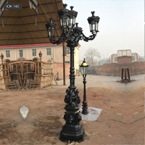 Outdoor antique cast iron lamp post for sale IOK-140