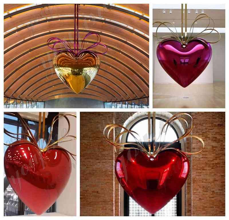 Jeff Koons hanging heart