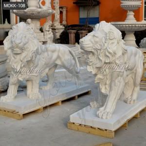 marble lion statue life size marble lion statue MOKK-108