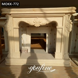 Antique Marble French Fireplace Mantels for Sale MOKK-772