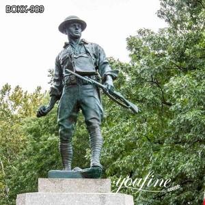 Life Size Outdoor Bronze Military Memorial Statue for Sale BOKK-909