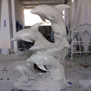 Hand caved marble life size marble statues for sale