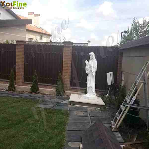Hand Carved Natural Stone Beautiful Marble Jesus Statues for Garden
