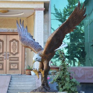 Wholesale Customized Size Bronze Eagle Sculpture for Decoration or Commemorate BOKK-601