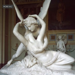 Famous Marble Replica Cupid and Psyche Statue for Sale MOKK-442