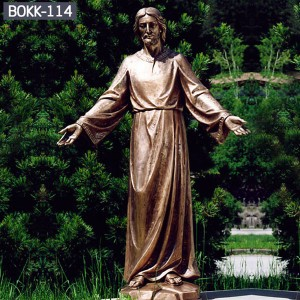 Life Size Religious Church Decoration Bronze Jesus Christ Statue for Garden BOKK-114
