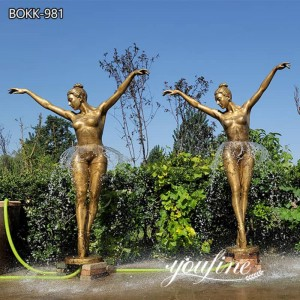 Fine Casting Bronze Ballerina Girl Fountain Decor for Sale BOKK-981