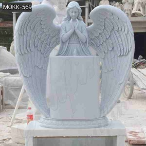 Hand Carved Customized Design Marble Baby Angel Headstone for Sale MOKK-569