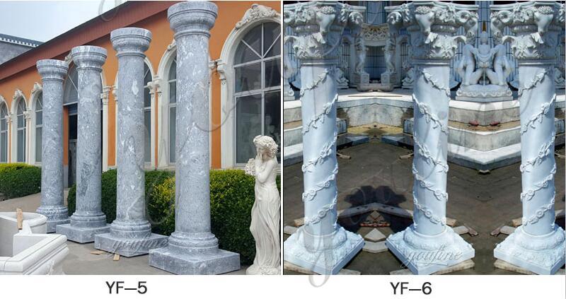 fluted columns pillars for wedding ceremony