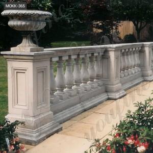 Outdoor decorative marble balcony  marble stair balustrade MOKK-364