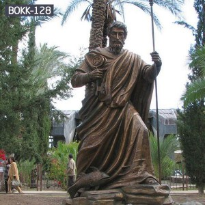 Buy Life Size Bronze religious st.peter sculpture for church decoration BOKK-128