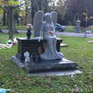 Life Size Marble Angel Headstones Prices for Sale MOKK-111