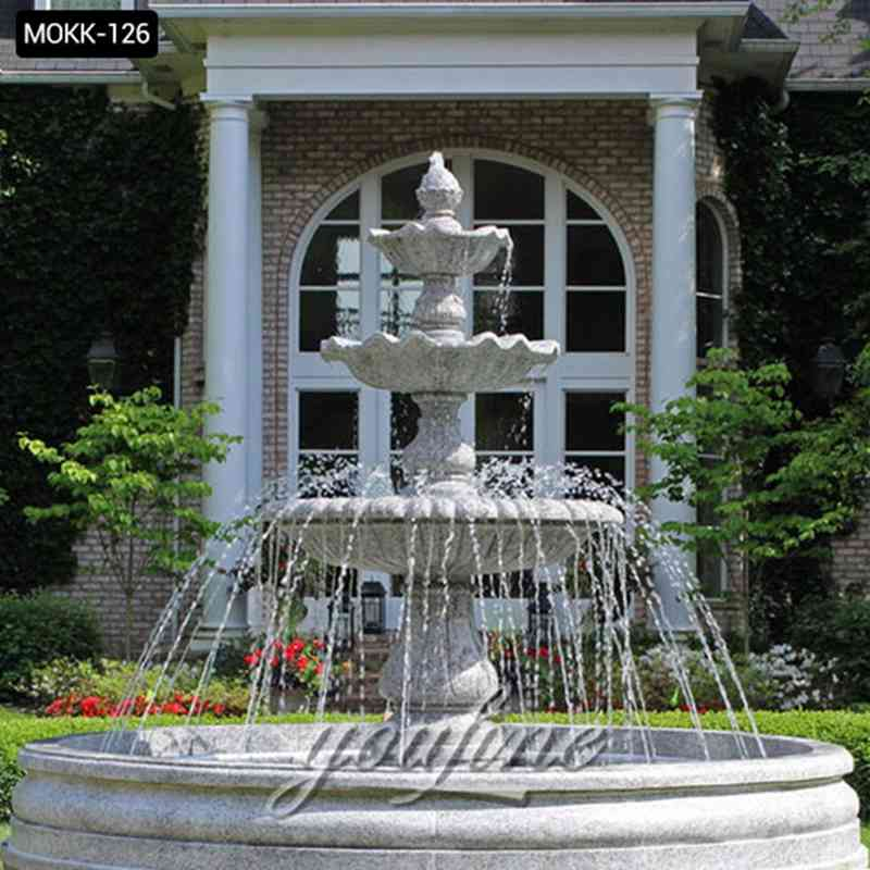 outdoor water fountain statues