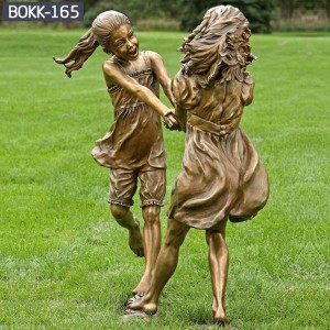 Metal Yard Decorations Bronze Statues for Garden Bronze Figure Statue of Children BOKK-165