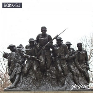 Outdoor Bronze Military Statue 107th Infantry Monument for Sale BOKK-51