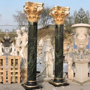 Large Outdoor Marble Round Porch Columns MOKK-148