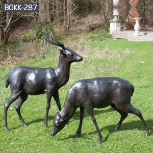 Bronze Deer Statue Life Size Deer Sculptures Outdoor Deer Sculptures BOKK-287